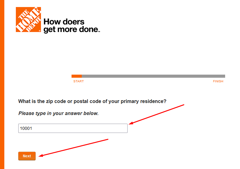 how to take home depot survey
