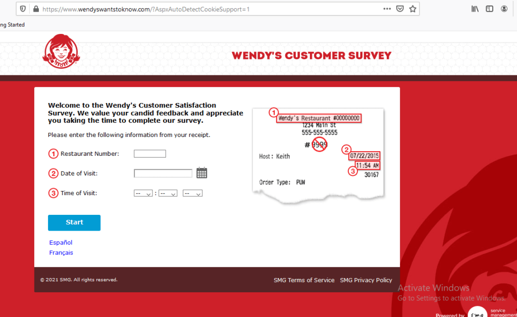 How to take Wendy's Customer Survey?